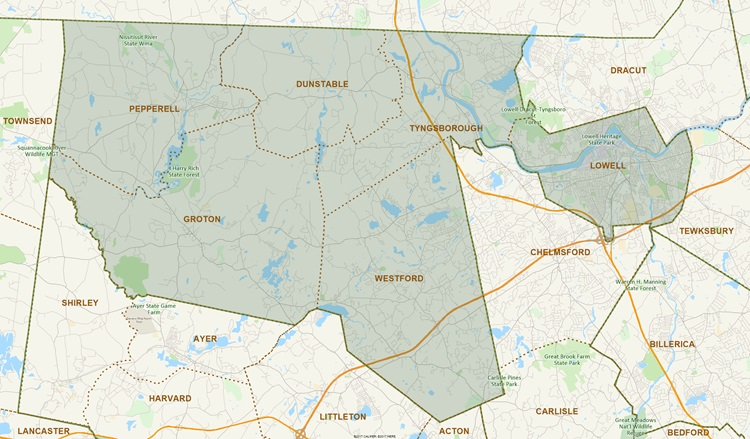 District Map of First Middlesex