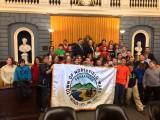 Thumbnail for Senator Rosenberg and Rep. Mark welcome Northfield Students to the Senate Chamber
