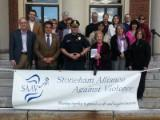 Thumbnail for Senator Lewis takes part in Stoneham Alliance Against Violence's White Ribbon Day event