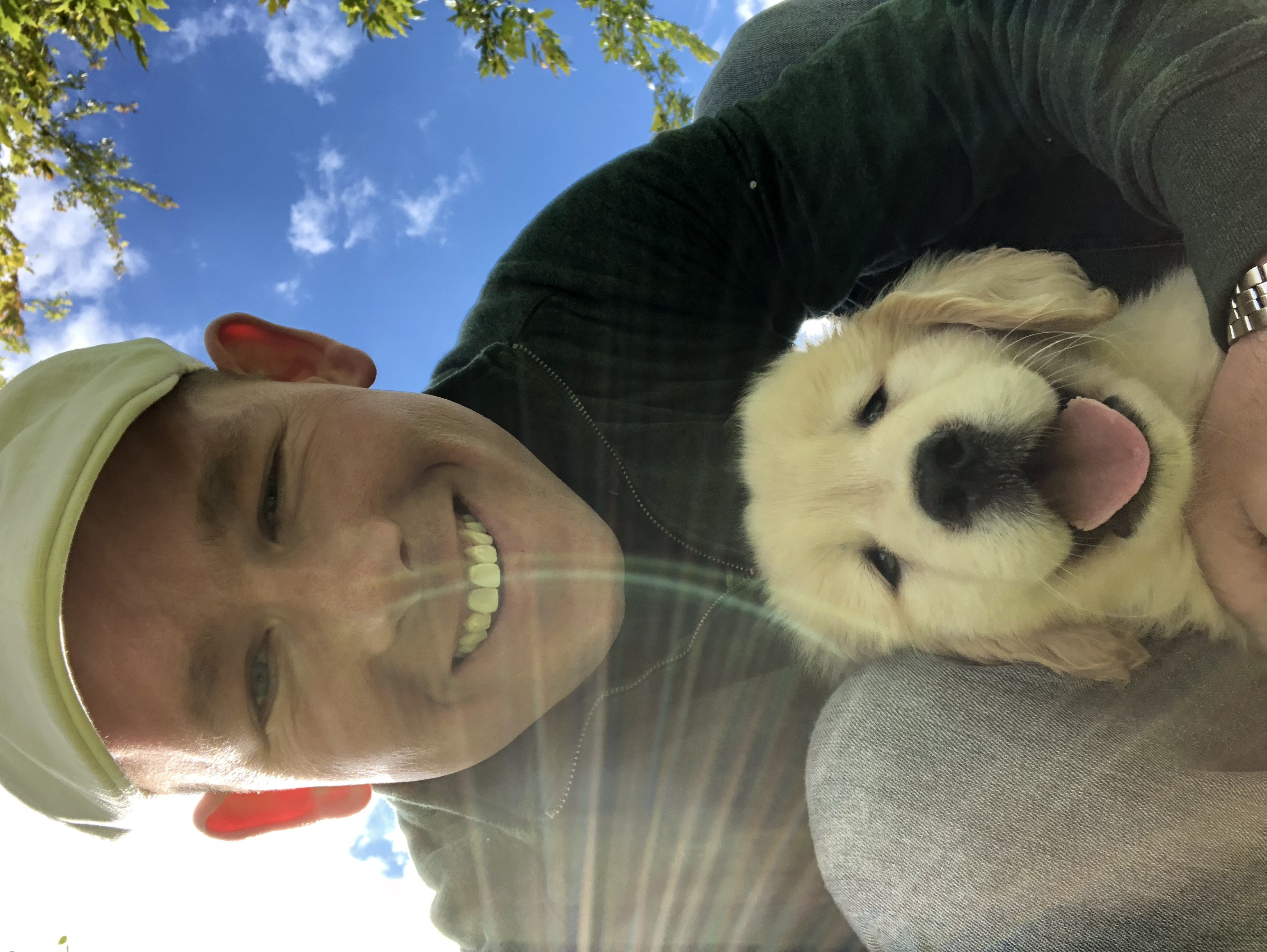Thumbnail for Representative Haggerty with his Golden Retriever puppy Molly