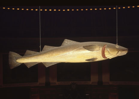"historical object of ""Sacred Cod"""