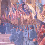 mural of The Return of the Colors to the Custody of the Commonwealth