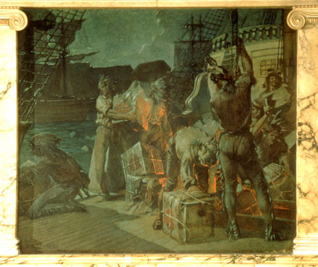 mural of The Boston Tea Party