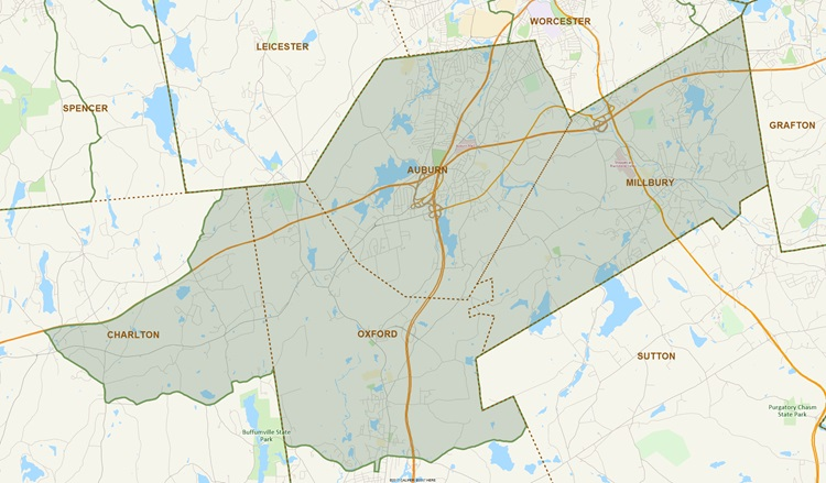 District Map of 7th Worcester