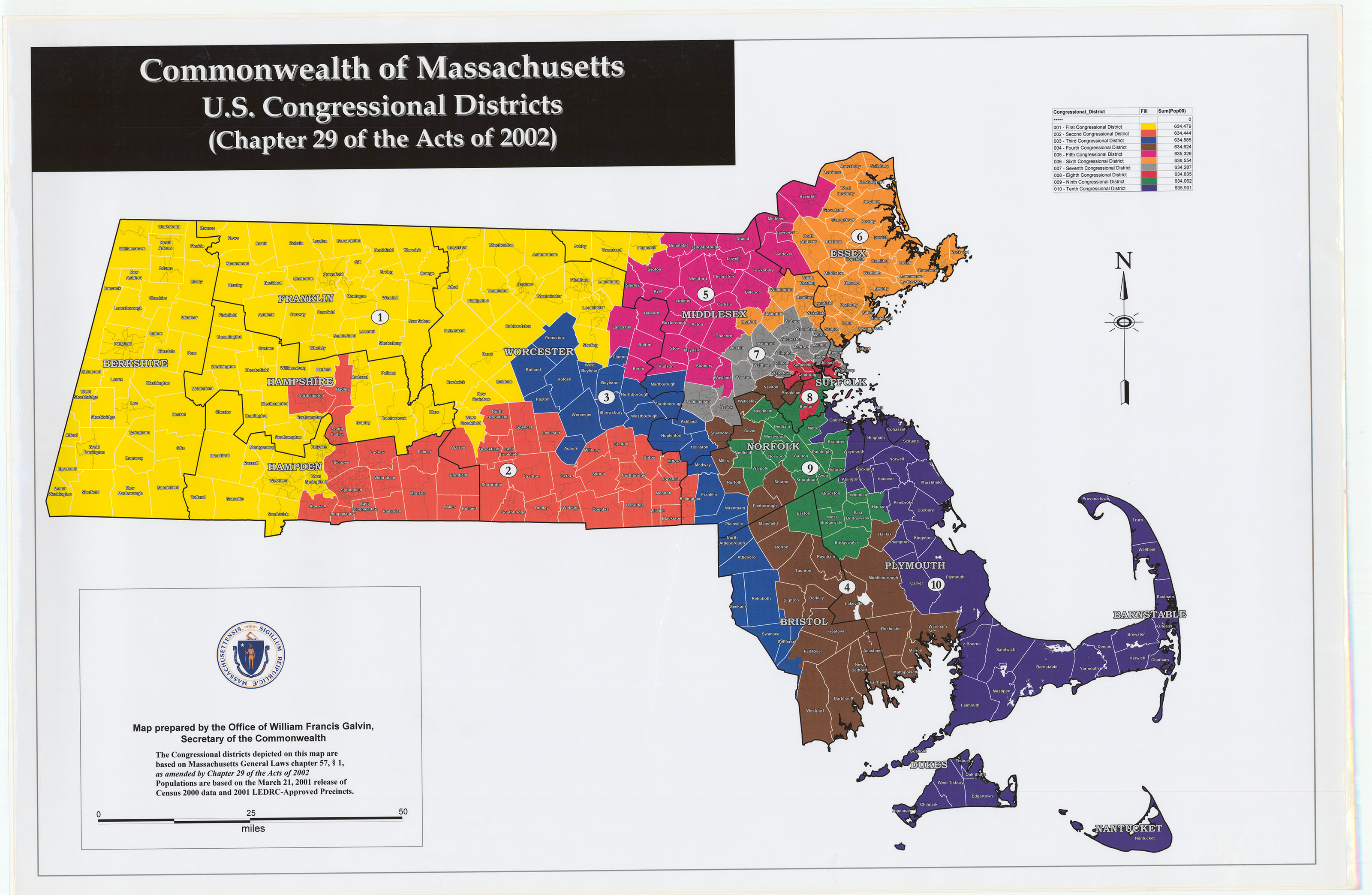 Historical Districts - Voting disrict map of us
