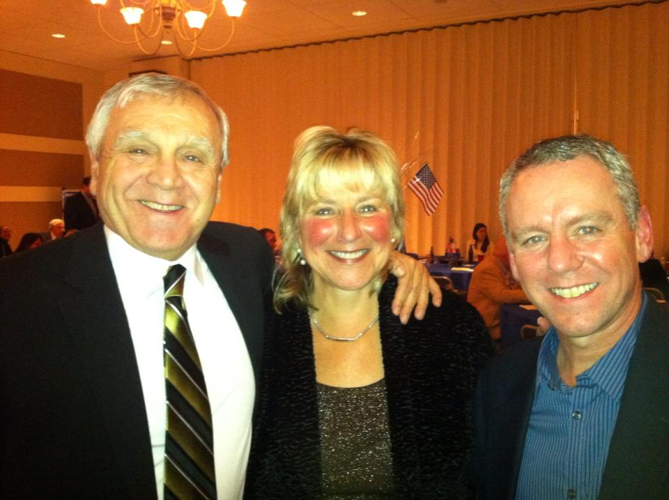 Rep. Roy with Senator Spilka, alongside district constituent Al Pizzi.