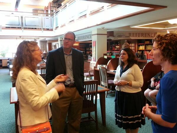 Senator Lewis tours the Lucius Beebe Memorial Library in Wakefield