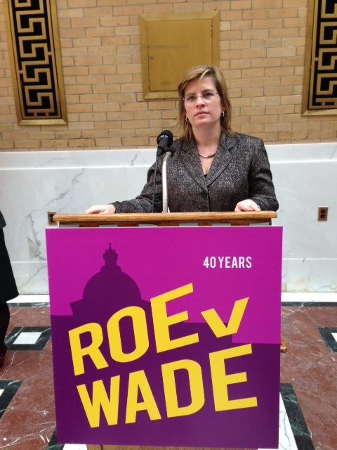 Rep. Decker celebrates the 40th anniversary of the passage of Roe v. Wade