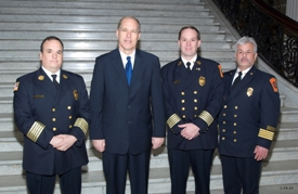 Rep. Galvin with the Canton Avon Fire Chiefs